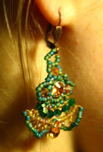 Boucles d'oreilles dentelles montées