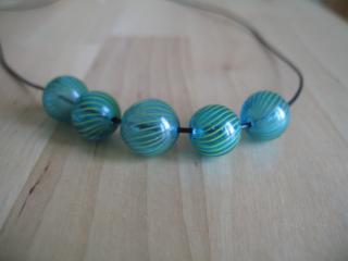Collier en perles soufflées 2