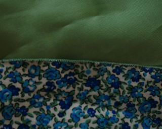 Point Zigzag Robe à fleurs bleues